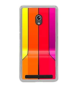 Fiobs Designer Back Case Cover for Asus Zenfone 5 A501CG (Lines Patterns Colorful Patti Rangin)
