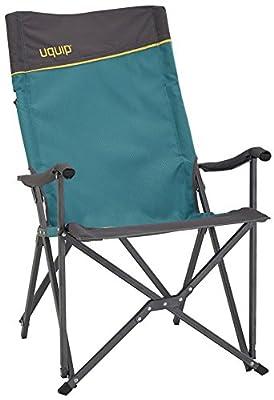 Uquip Campingstuhl Emmy mit Lounge-Charakter, Stabiles Alu-Gestänge & Hoher Rückenlehne (13x18x112cm)