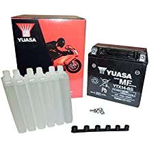 Yuasa YTX14-BS - Batería con paquete de ácido, ...