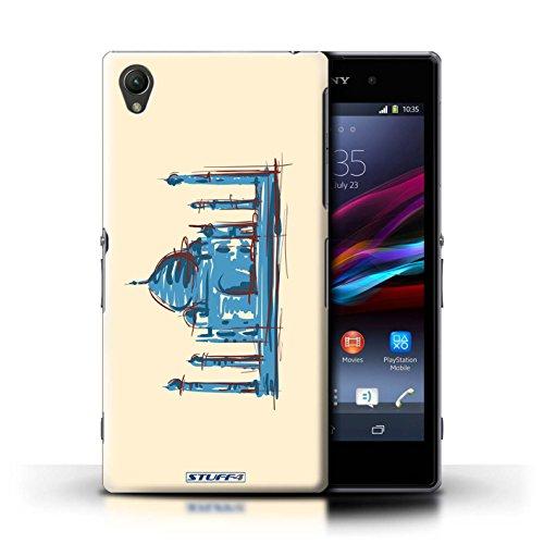 Kobalt® Imprimé Etui / Coque pour Sony Xperia Z1 / Statue de la Liberté conception / Série Monuments Taj Mahal/Indie