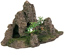Trixie 8853 Rock Formation with Caves / Plants Aquarium Decoration 22 cm