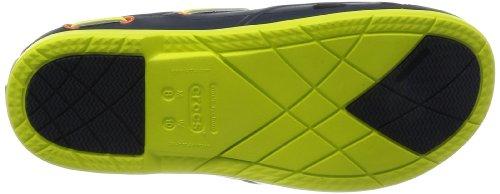 Crocs  Beach Line Clog,  Unisex Erwachsene Clogs Blau (Navy/Citrus)