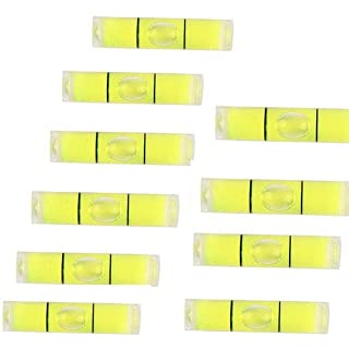 UCTOP STORE 10 Pcs Cylindrical Plastic Bubble Spirit Level Vials 8 * 35mm