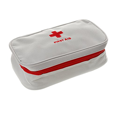 Generic Outdoor Home Car Office School Emergency Survival Medical Treatment Case Pack First Aid Kit Bag Travel Camping Sport Medical Pouch - white  available at amazon for Rs.365