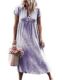 Glomixs Vestidos De Fiesta para Bodas Talla Grandes Vestidos Playa Mujer Vestidos Casuales Vestido Midi Vestido