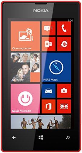 Nokia Lumia 520 Smartphone (10,1 cm (4,0 Zoll) WVGA ClearBlack LCD Touchscreen, 5,0 Megapixel Auto Fokus Kamera, 1,0 GHz Dual-Core-Prozessor, Windows Phone 8) rot Wvga Windows