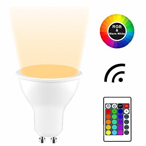 YAYZA! 2-Pack Premium Dimmbar GU10 6W RGB + Warmweiß 3000K Farbwechsel IR Fernbedienung LED-Strahler Downlight Glühbirne