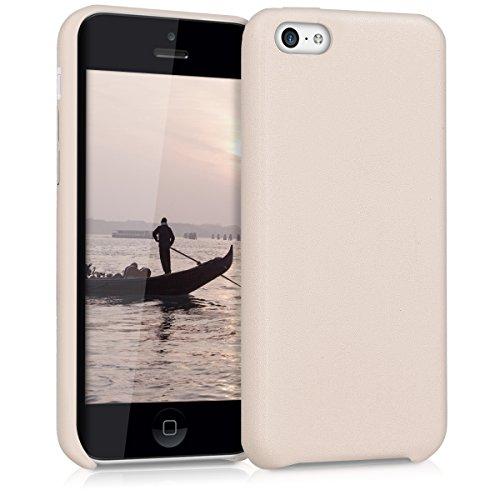 kwmobile Cover per Apple iPhone 5C - Custodia protettiva matt in similpelle - Backcover Case per cellulare beige .beige