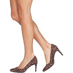 next Mujer Zapatos De Salón Puntera Ovalada Corte Regular Estampado De Animal Eu39