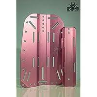 SUB-M Placa Trasera de Aluminio y Adaptador de Tanque Individual para Buceo, Color Morado