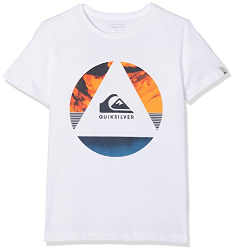 Quiksilver Classic Fluid Turns Camiseta, Niños, Blanco (Bright White-Solid), S/10