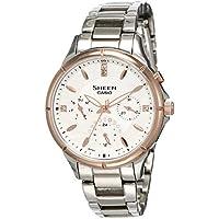 Casio Sheen Analog White Dial Women's Watch - SHE-3047SG-7AUDR (SX167)