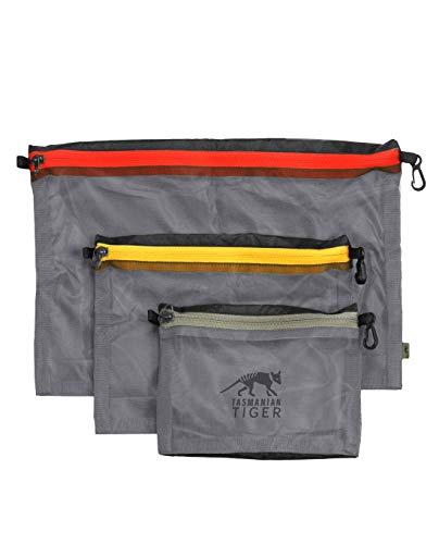 Tasmanian Tiger TT Mesh Pocket Set Black Edition Rucksack Organizer Zusatztaschen Schwarz