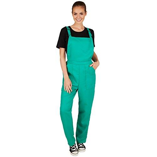 TecTake dressforfun Unisex Latzhose | Kostüm für Handwerker, Gärtner, Bauarbeiter, Neonlook oder auch Bad Tasteverkleidung (Grün | L | Nr. 301471)