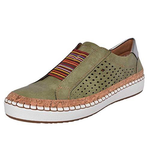 ichte Freizeitschuhe Lässig Atmungsaktive Sportschuhe Outdoor Casual Turnschuhe Flach Laufschuhe Sommer Schuhe Bequeme Leder Sandaletten Retro Müßiggänger ()