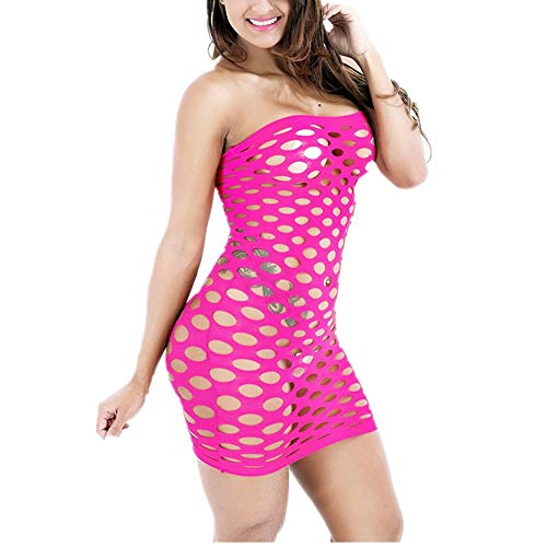 Dfhdfsg Fischnetz Unterwäsche Elastizität Baumwolle Sexy Dessous Hot Mesh Baby Doll Kleid Erotische Dessous Für Frauen Sex Kostüme Rose -