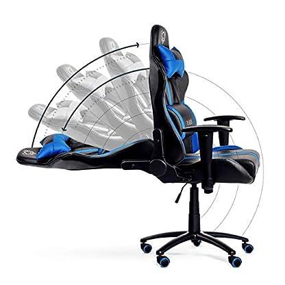 41Q7ZZbLdpL. SS416  - Diablo® X-Player Silla de Oficina Silla Gaming reposabrazos Ajustables Almohada y cojin Lumbar Mecanismo de inclinación Cuero sintético selección de Color