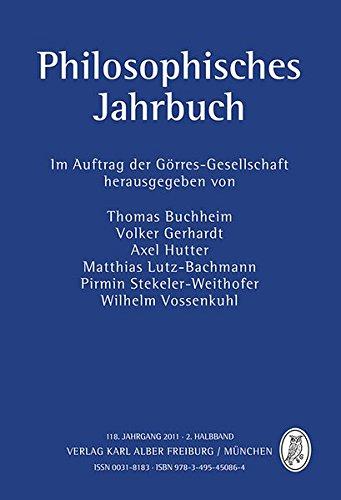 Philosophisches Jahrbuch: 118. Jahrgang 2011 - 2. Halbband