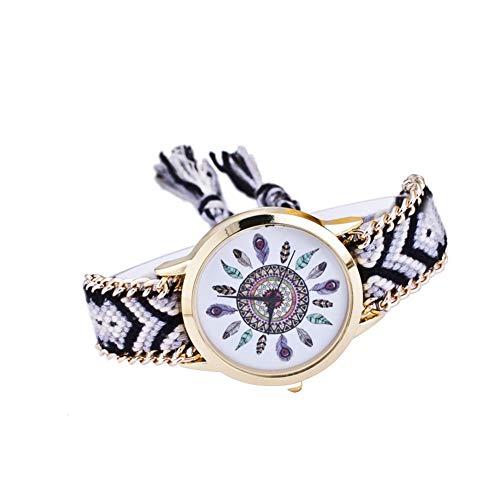 Leisial. Reloj Trenzado Reloj de Pulsera Señoras Estilo étnico Reloj