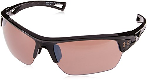 Under Armour UA Octane Wrap Sunglasses, UA Octane Gloss Black / Black / Road, 63 mm