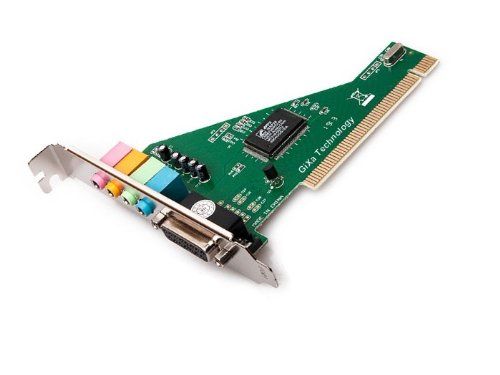 GiXa Technology PCI Soundkarte Sound Karte Audio mit Gameport 4 Kanal 5.1 Dolby Digital Surround PCI Card Audio Karte für PC Computer mit Game Port 4 Kanal 5.1 Soundkarte für PC