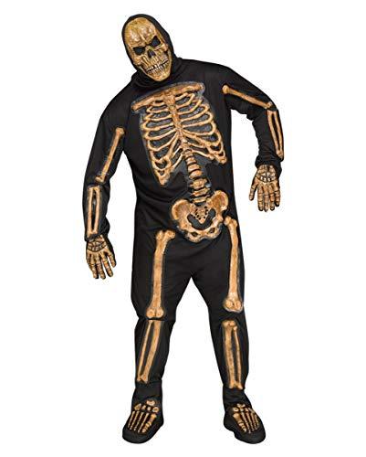 Horror-Shop Realistisches Skelett Kostüm Plus Size für ()