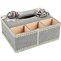 Haliwu Queen Kosmetiktücher-Box Kosmetiktücherbox Tissue Box L 25 x W 21 x H 10 cm (grau)