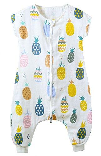 Feoya sacco a pelo bambino ragazzo ragazze coperta in cotone primavera estate pigiama da notte bambini pagliaccetto 24-36 mesi