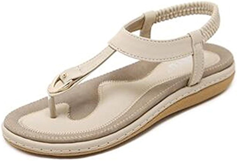 XIAOLIN Sandalias Femenina Xia Pingdi Moda Estudiante Retro Clip pies Zapatos de playa de gran tamaño después...