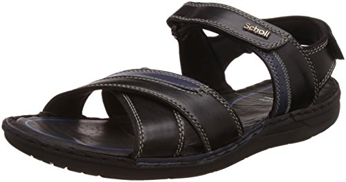 880fef3c8cc Dr. Scholl s Men s Sam Sandal Black Leather Athletic   Outdoor Sandals - 9  UK
