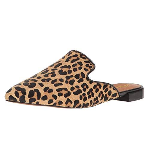 Lutalica Spitze Lässige Slipper Pantoffeln Stickerei Pantoffeln Halbschuh Für Damen Leopard Größe 39 Caged High Heel