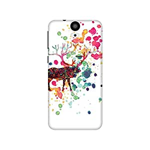 The Racoon Lean printed designer hard back mobile phone case cover for HTC One E9 Plus. (The Reinde)