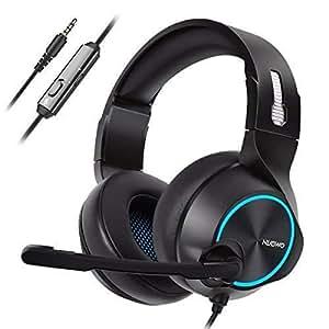 NUBWO PS4 Gaming Headset, N11 Xbox One Stereo Cavo per PC Gaming Headset con Microfono Cancellazione del Rumore, Cuffie Auricolari con Volume & Controllo Mute per PC/Mac/PS4/Xbox 1 -Blu