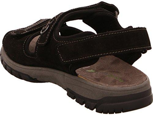 Waldläufer Sandale Harald, Farbe: schwarz Schwarz