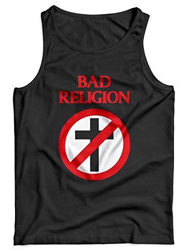 LaMAGLIERIA Tank Top Herren Bad Religion - 100% Baumwolle, M, Schwarz