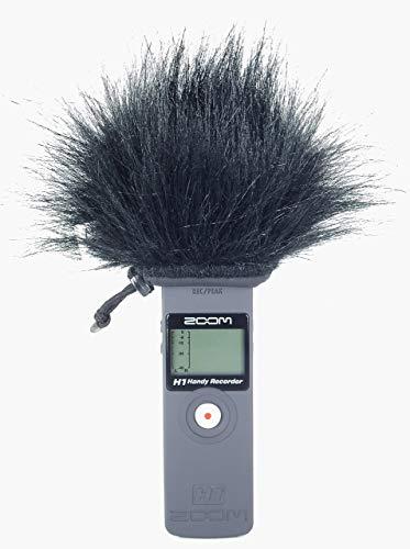 Master Sound peluche antivento per esterni per proteggere dal vento il registratore Zoom H1, facile da applicare su registratori portatili, prodotto in UE con materiali di alta qualità e affidabili