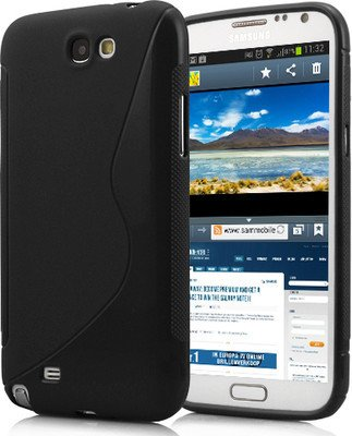 Fashion Back Case Cover for Samsung Note 2 N7100 (Black)  available at amazon for Rs.149