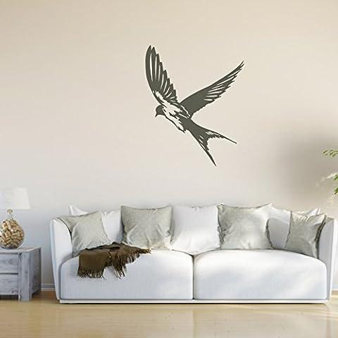 malango® Wandtattoo - Schwalbe Wand Tattoo Vogel Singvogel Wandaufkleber Tier Tierwelt Aufkleber Sticker ca. 40 x 49 cm