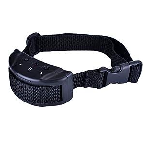 Collier Anti-aboiement Collier de Dressage pour Chiens avec Son & Vibration pour Chien étanche Collier Automatique pour entraîner chien