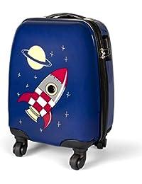 MasterGear Koffer für Kinder, Handgepäck Größe, Kinderkoffer mit 4 Rollen (360 Grad), Trolley, Reisekoffer, Hartschalenkoffer, ABS, Zahlenschloss
