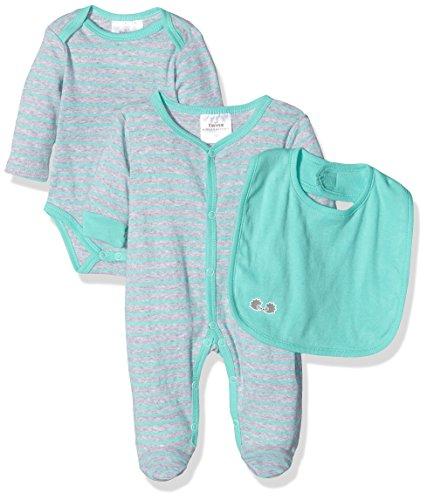 Twins Unisex Baby Bekleidungsset 3 teiliges Starter-Kit, Grau (Grau-Melange 4098), 50