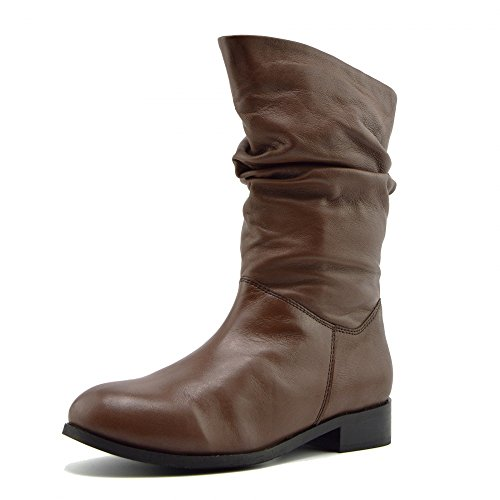 Kick Footwear  Kick Footwear, Bottes Motardes femme Mid-calf Brown