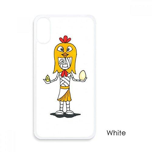beatChong Ägypten Mama Horus-Huhn-Hut für iPhone X-Hüllen Weiß phonecase ()