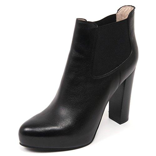 C1978 tronchetto donna UNISA YOLAE scarpa nero shoe boot woman Nero