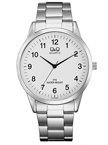Q&Q Reloj Analógico para Hombre de Cuarzo con Correa en Acero Inoxidable QC212J204Y