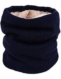 UFACE Crochet Bonnet Echarpe Ensemble Chaud Laine Fourrure Snood Fille Tube  Hiver Coupe-vent pour d4da98dbf05