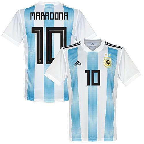 Argentinien Home Trikot 2018 2019 + Maradona 10 - L