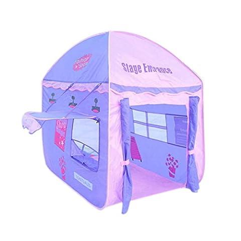 SESO UK- Prince ou princesse Palais d'été château enfants enfants jouent tente maison crawling intérieur ou extérieur jardin jouet playhouse plage soleil pop up tente maison garçons filles (115x85x120cm) ( Couleur : Violet