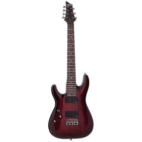 Schecter Damien Elite 7 LH · Guitarra eléctrica zurdos