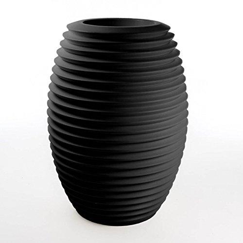 Serralunga Top Pot Hard Pflanztopf, schwarz Kunststoff Schwarz Hard Top